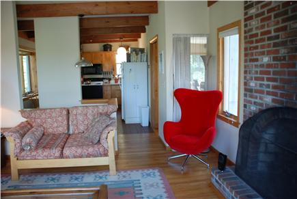 Wellfleet, Trotting Park - Near Town Cent Cape Cod vacation rental - Living Room With FIreplace - Upper Level