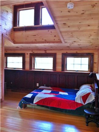North Eastham Cape Cod vacation rental - Loft bedroom has a full size bed, a half bath, and a balcony