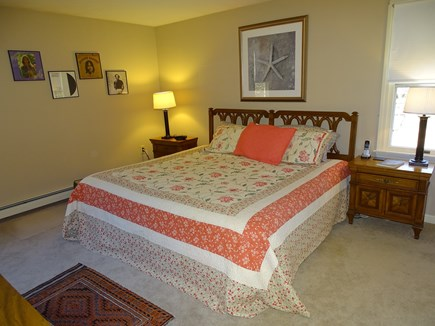 Brewster Cape Cod vacation rental - Master bedroom with TV, king bed, full bath with walk in shower