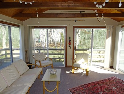 Brewster Cape Cod vacation rental - Our favorite spot – Porch area open to deck, grill area