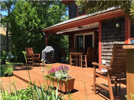 Hyannis Cape Cod vacation rental - Back deck with grill for dining and relaxing overlooking marsh