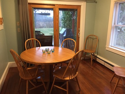 Hyannis Cape Cod vacation rental - Dining area opens to th deck