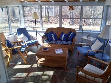 South Yarmouth Cape Cod vacation rental - Kitchen opening to sunroom.