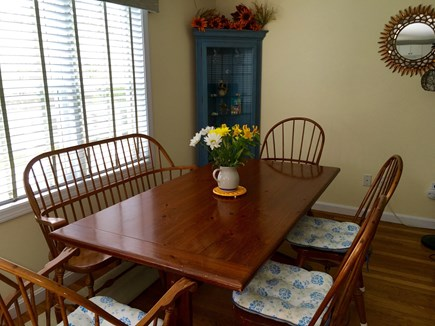 East Falmouth Cape Cod vacation rental - Dining room.  Additional leaves and chairs will accommodate 10.