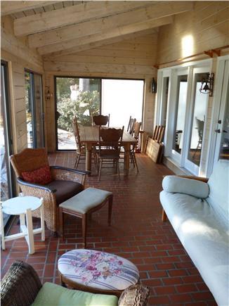 Barnstable Cape Cod vacation rental - Three-Season Porch w/futon. Table seats ten.