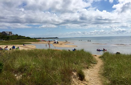 Wellfleet Cape Cod vacation rental - Beach in front of cottage colony