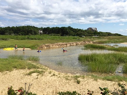 Wellfleet Cape Cod vacation rental - Kids love this inlet at low tide---rafting, paddlng, exploring!