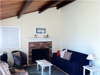Wellfleet Cape Cod vacation rental - Living room w/cathedral ceiling