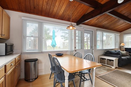 Wellfleet Cape Cod vacation rental - Eat in kitchen with water view