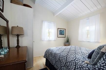 Wellfleet Cape Cod vacation rental - Master bedroom with queen bed, window A/C unit