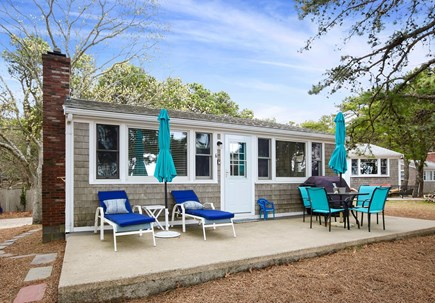 Wellfleet Cape Cod vacation rental - Cottages are well spaced for privacy; outdoor shower in back.