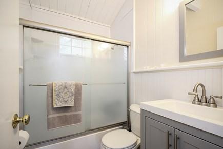 Wellfleet Cape Cod vacation rental - Freshly renovated bathroom with rain head shower, full sized tub