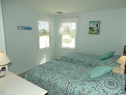 West Dennis Cape Cod vacation rental - Twin bedroom, view of the dunes