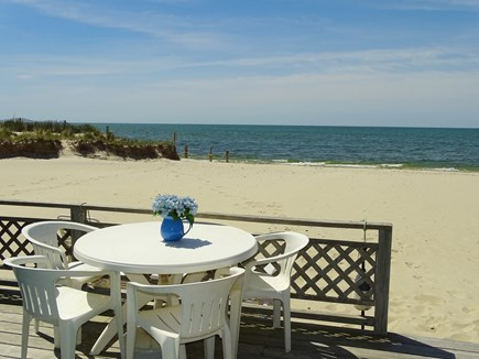 West Dennis Cape Cod vacation rental - Dine, relax and gather with open beach views and access