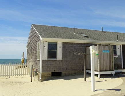 West Dennis Cape Cod vacation rental - Seaside Serenity – guests love the outdoor shower!