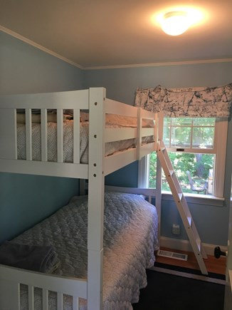 Hyannis Cape Cod vacation rental - Second bedroom. Third twin bed not pictured to the right.