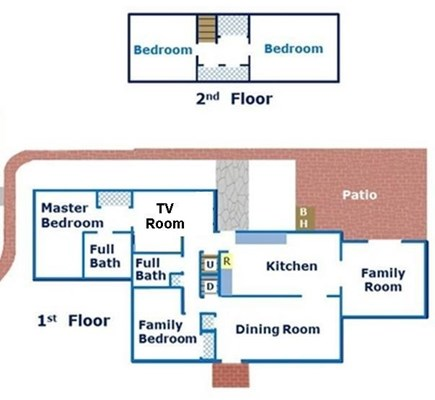 South Yarmouth Cape Cod vacation rental - Family friendly floor plan