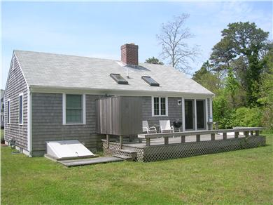 Chatham Cape Cod vacation rental - Back deck of the cottage