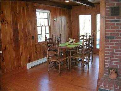 Chatham Cape Cod vacation rental - Dining Area with glass door to the back deck