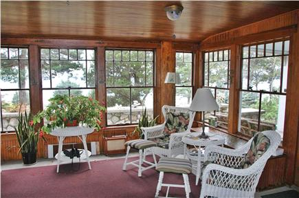 Onset, Great Neck MA vacation rental - Sunroom facing Water