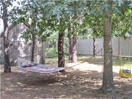 Eastham Cape Cod vacation rental - Shady backyard with Hammock