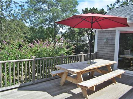 Eastham Cape Cod vacation rental - Deck with Picnic table, gas grill & Butterfly Garden