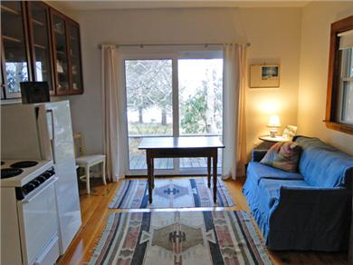 Pocasset, MA Cape Cod vacation rental - Lower living area, with sliders to back yard, facing water