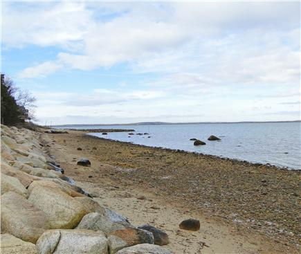 Pocasset, MA Cape Cod vacation rental - Private beach area, with distant views of Canal Railroad bridge