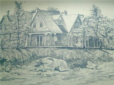 Pocasset, MA Cape Cod vacation rental - Local artist drew Bentwood by the Sea