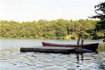 Falmouth Cape Cod vacation rental - Private small dock with the canoe