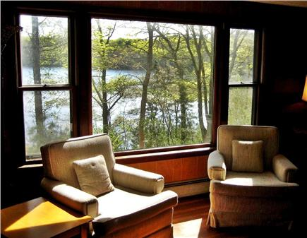 Falmouth Cape Cod vacation rental - View out the picture window of the Living Room