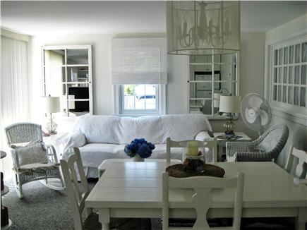 West Yarmouth Cape Cod vacation rental - Kitchen for 2A side of duplex showing dining table.