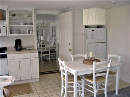 West Yarmouth Cape Cod vacation rental - Kitchen area in 2B, showing passage door between units.