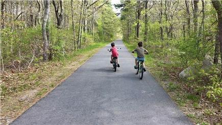 Harwich Cape Cod vacation rental - The Rail Trail Bike path passes our front yard.  It's beautiful.