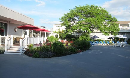 Hyannis, at Cape Codder Resort & Spa Cape Cod vacation rental - Outdoor restaurant The Deck with Live Band on Summer weekends