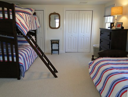 Pocasset Pocasset vacation rental - Upstairs bed room with bunk beds and twin