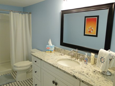 Pocasset Pocasset vacation rental - Upstairs bathroom with large walk in shower