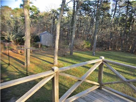 Harwich Cape Cod vacation rental - Deck for relaxing and birdwatching with morning coffee