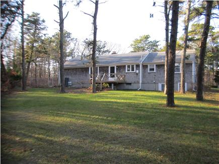 Harwich Cape Cod vacation rental - Large private back yard bordering Town Forest