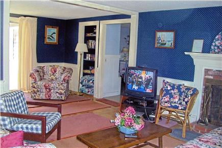 South Yarmouth Cape Cod vacation rental - Living room opens to deck