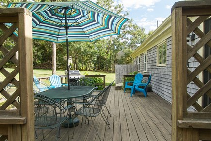 Chatham Cape Cod vacation rental - Great deck - nice gas Weber grille  & enclosed outdoor shower