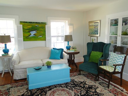Chatham Cape Cod vacation rental - Living room with special paintings, décor