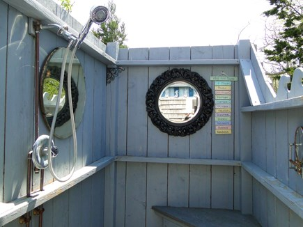 Chatham Cape Cod vacation rental - Huge awesome outdoor shower, with water views
