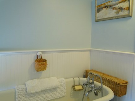 Chatham Cape Cod vacation rental - Bathroom upstairs with claw foot tub