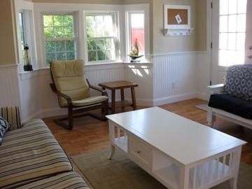 Wellfleet Cape Cod vacation rental - Living room with two couches, one of them is a pull out