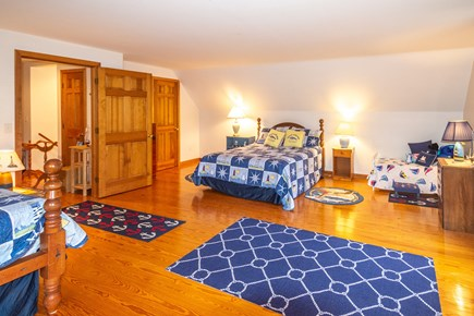 Truro Cape Cod vacation rental - Upstairs w/queen, full & toddler bed decorated in a sailing theme