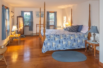 Truro Cape Cod vacation rental - Large first floor master bedroom w/queen located near full bath.