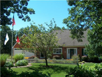 Harwich Cape Cod vacation rental - Front of house with professional landscaped grounds