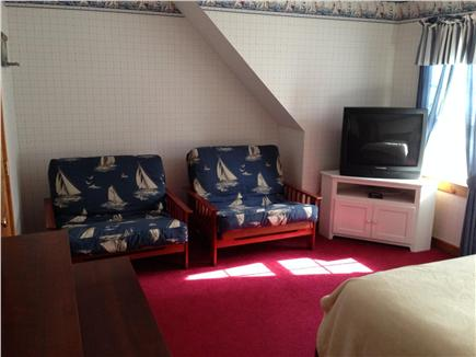 Harwich Cape Cod vacation rental - Other view of Guest Room with TV & 2 large Futons