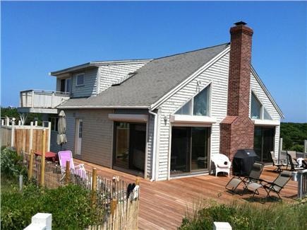 Wellfleet Cape Cod vacation rental - Large deck with outside shower